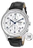 Nysw | Plus de Luxe Hybride Smartwatch–mécanique Jour–Verre Saphir–Superbe et Plus Encore (Brocante Ny-sh-01-w) (Argent/Bleu)...