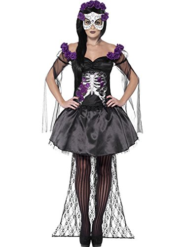 Mexikanisches Skelett Kostüm Damen (Horror Themen Kostüme Ideen)