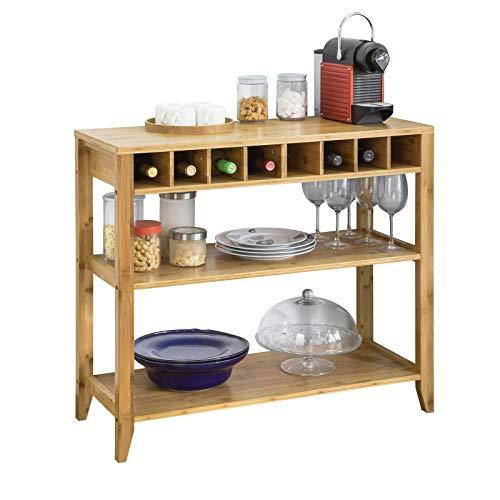 SoBuy FSB14-N Design Sideboard mit Weinregal und 3 Ablagen Küchenschrank Konsolentisch Flurschrank...