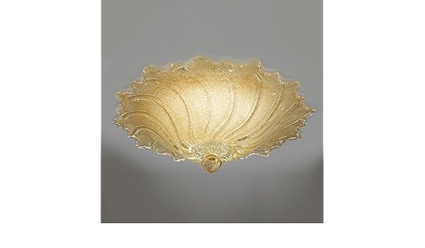 Plafoniera Per Bagno Murano : Plafoniera cometa oro amazon illuminazione