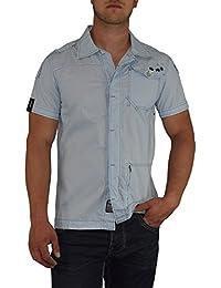 S&LU angesagtes Herren Hemd kurzarm mit tollen Details Größe S - XL