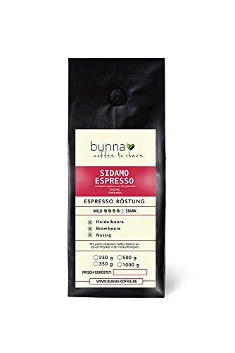Bunna Coffee - ESPRESSO SIDAMO - Äthiopien Hochland Kaffee Bohnen - Fair & direkt gehandelt - 100%...