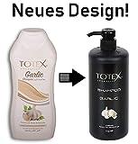 TOTEX Garlic Shampoo - Knoblauchshampoo 750ml gegen Haarsausfall - für mehr Volumen