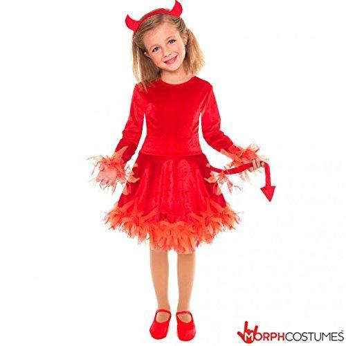 Mädchen Light Up Teufel Halloween-Kostüm