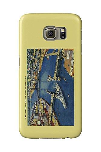 U.S. Battleship passing through Portland Bridges (Galaxy S6 Cell Phone Case, Slim Barely There)