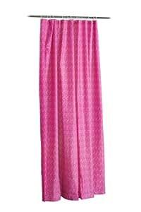 Premier Housewares Mosaic Shower Curtain - Hot Pink