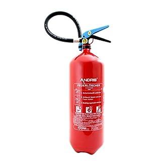 6L Fettbrand Schaum Feuerlöscher mit Manometer DIN EN3 Orig. ANDRIS® Made in EU + Prüfnachweis