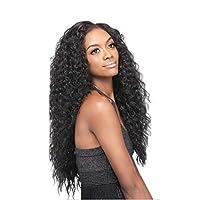 YBL wig Real Human Hair Brazilian Lace Hand Hook Head Water Wave Human Hair Wig Natural Hair 130% Density (8-24 Inches) (Size : 24 inch)