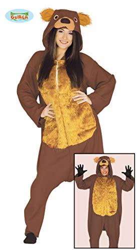 (Teddy Bär Karneval Motto Party Kostüm für Erwachsene Braun Einteiler Gr. M - L, Größe:L)