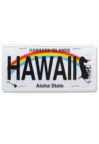 Hawaii Souvenir License Plate The King Kamehameha by Welcome to the Islands