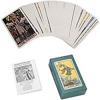 Dewin Cartas del Tarot: mazo de Cartas de Jinete Rite Waite, Juego de Cartas de Juego Vintage Future Telling ( Color : Green )