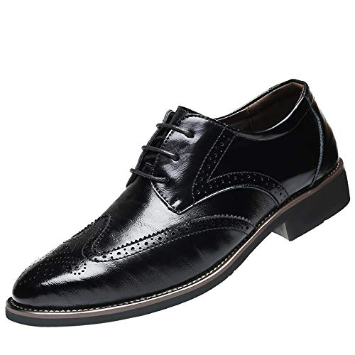 Shoes Sensible Brand Patent Leather Business Mens Dress Shoes Pointed Toe Oxford Shoes For Men Breathable Mesh Formal Office Flats Eu 38-48