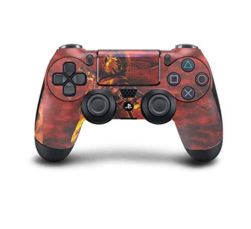 PS4 DualShock Wireless Controller Pro Konsole - Neueste PlayStation4 Controller mit weichem Griff und exklusiver individueller Version, Mortal Kombat Scorpion Red