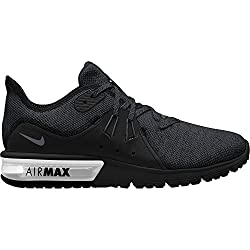 Nike Men's Air Max Sequent 3 Running Shoes, Multicolor (Blackanthracite 010), 12 Uk