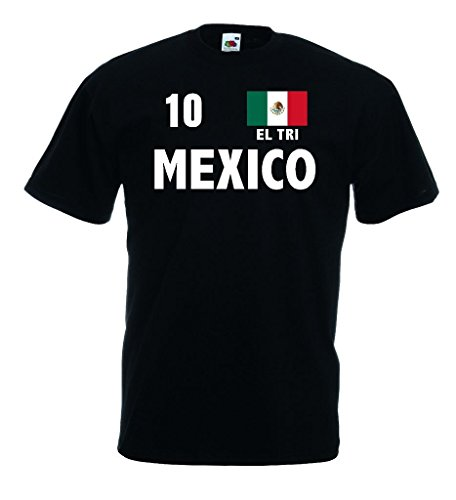 Fruit of the Loom world-of-shirt Mexico EL TRI Herren T-Shirt Fan Trikot|s-xl - Mexico De Tri El