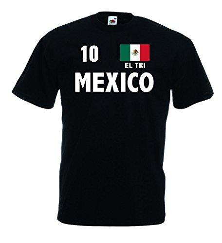 Fruit of the Loom world-of-shirt Mexico EL TRI Herren T-Shirt Fan Trikot|s-xl -