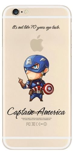 NEW Marvel Avenger Transparent Coque souple en TPU pour Apple iPhone 5/5S .5se & 5C, plastique, Captain America, Apple iPhone 5c