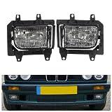 Paar Kunststoff Stoßstange Vorne Klar Nebelscheinwerfer Abdeckung für BMW E30 318i 318is 325i 325is