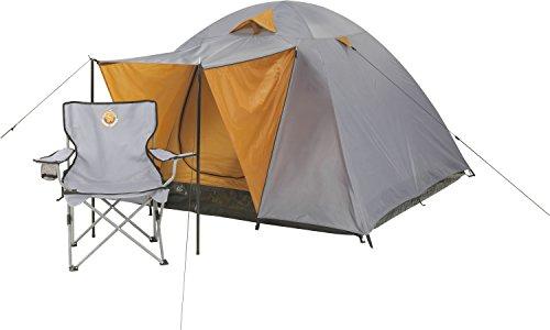Grand Canyon Phoenix L Kuppelzelt (4-Personen-Zelt) grau/orange, 302016