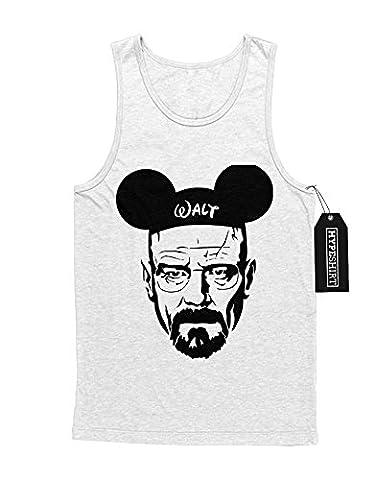 Tank-Top Walter Mickey Mouse Breaking Bad C112241 Weiß L (Walt Breaking Bad Kostüm)