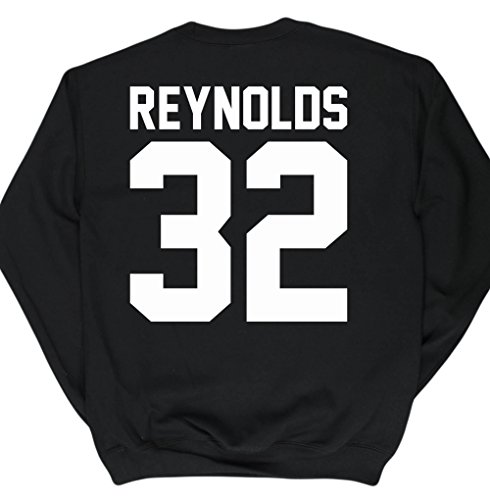 Hippowarehouse Reynolds 32 (Printed On The Back) Kids Unisex Jumper Sweatshirt Pullover