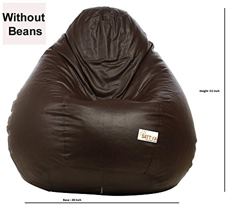 Groovy Buy Sattva Xxxl Bean Bag Without Beans Brown Online At Low Machost Co Dining Chair Design Ideas Machostcouk