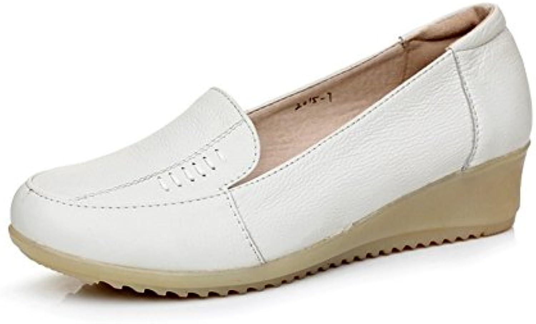 Scarpe in pelle da donna Testa tonda per un casual scarpe comode Manzo tendine confortevole infermieristico scarpe...   Di Prima Qualità    Scolaro/Signora Scarpa