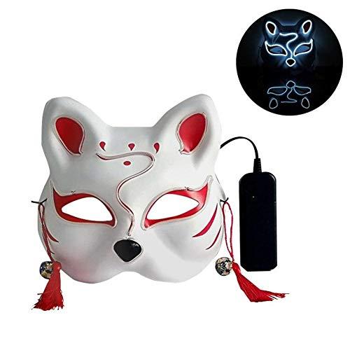 Prom 80 Nacht Kostüm - cypressen LED Halloween Katze Form Leucht Maske Männlich Weiblich Persönlichkeit Karneval Nacht Prom Anime Masken Street Dance Maske Für Frauen Männer