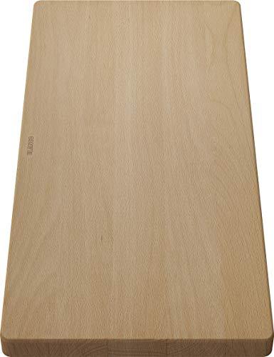 Blanco 218313 Holzschneidbrett aus massiver Buche, passend Spüle, Zubehör für das Waschbecken in der Küche, Buchenholz