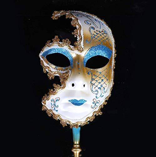 Treeshu Horror Venezianisch Sparkle Halloween Halb Gesichtsmaske-Festival-Kostüm Für Frau/Lady,Blue