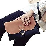 ALAIX Damen Clutch Schultertasche Abendhandtasche Leder Umhängetasche mit Zusatzkette