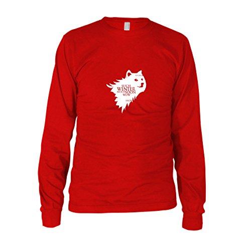 Doge Meme - Herren Langarm T-Shirt, Größe: S, Farbe: (Hund Doge Kostüm)