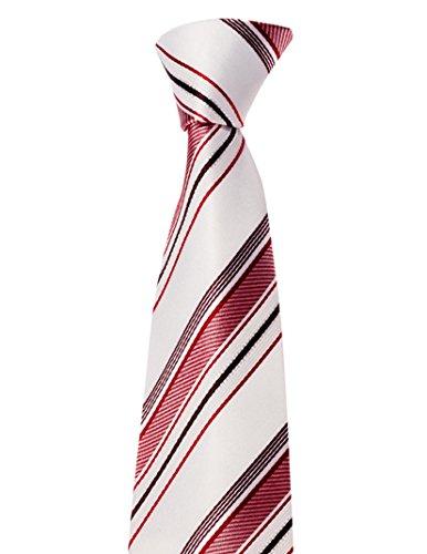 Krawatte von Mailando, mit Streifen, sehr elegant, rot - weiss