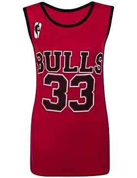 Camiseta sin mangas para mujer - Chicago Bulls 33 - Tallas 8-14