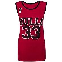Camiseta sin mangas para mujer - Chicago Bulls 33 - Tallas 8-14 multicolor  rosso 1ecd7486781