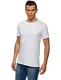 oodji Ultra Hombre Camiseta Básica (Pack de 3)