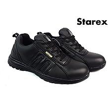 Zapatos de seguridad para trabajo, Black/Black, 9
