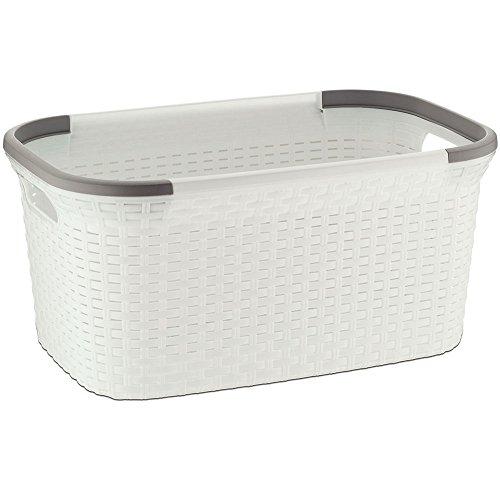 """kela """"Rio Wäschekorb, Kunststoff, weiß/grau, 40L"""