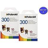 Polaroid PIF-300 Lot de 2 cartouches Polaroid pour appareil photo série 300 et chiffon en microfibre