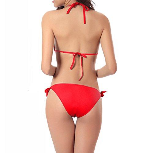 Haodasi Mode Brasilien Bikini Tief V Sammelt Ein Stück Badeanzug Bandage Strand Bademode Red