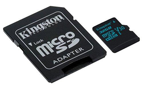 Kingston SDCG2/32GB Canvas Go microSD Karte (mit Adapter, Einfangen eines Lebens in Bewegung) (Sd-karte Für Kin)