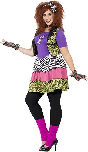 Imagen de smiffy 's 44658l curvas de la mujer años 80rock chick disfraz tamaño grande  alternativa