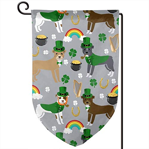 Leprechaun st Pattys Day st. pat Polyester Garden Flag House Banner 12.5 x 18 inch, Two Sided Welcome Yard Decoration Flag for Wedding Party Home Decor ()