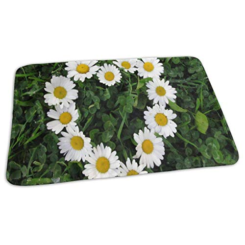 Voxpkrs Changing Pad White Daisies Flower Baby Diaper Urine Pad Mat Great Adults Urinal Mats Sheet for Any Places for Home Travel Bed Play Stroller Crib Car -