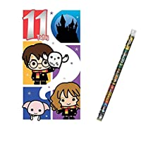 Unique Industries and Danilo Harry Potter Age 11 Birthday Card with a Harry Potter Pencil Gift