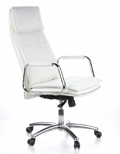 HJH OFFICE 600922 Bürostuhl / Chefsessel VILLA 20 Nappaleder elfenbein - 2