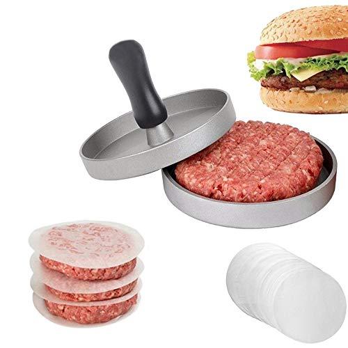 Preisvergleich Produktbild CLDGF Burger Fleischpresse,  Antihaft-Pfanne Für Burger Grill,  Cheeseburger,  Patties,  Fleischbällchen,  Bratpfanne (+40 Blatt Backpapier)
