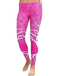 f4385fdeb470 Leggeings SANFASHION Damen Neon Pants Fitness Sport Gym Running Yoga  Sporthose Hosen