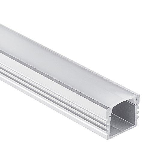 LED Aluminium Profil PL2 Arrakis 2 Meter für LED Streifen plus Abdeckung Opal Aluprofil