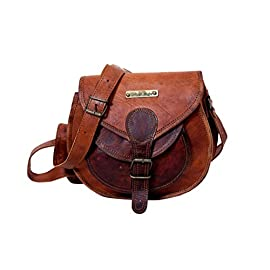 Handmade Genuine Leather Ladies Satchel Purse Handbag, Leather Messenger Bag for Women – Free Surprise Gift